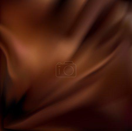 Illustration pour Fond Chocolat abstrait, Soie Marron Draperie, Illustration vectorielle - image libre de droit