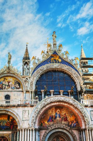 Close up of San Marco cathedral in Venice