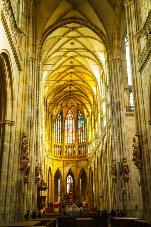 St. Vitus Cathedral interior in Prague