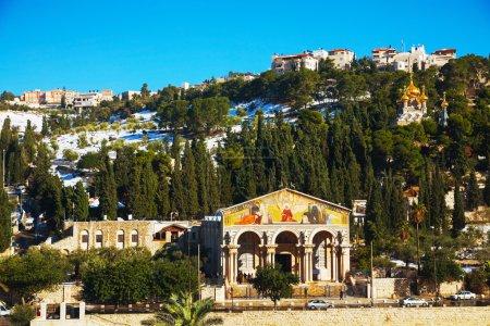 Photo pour Église de toutes les nations à Jérusalem, Israël - image libre de droit