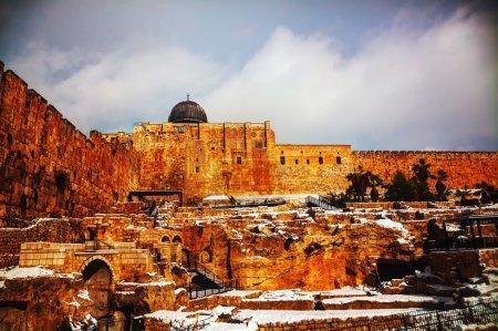 Ophel ruins in the Old city of Jerusalem, Israel...