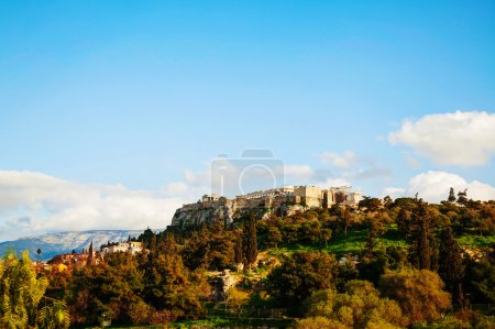 Overview of Acropolis in Athens, Greece