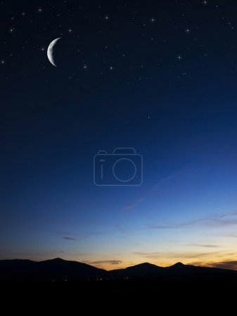 Photo for Night background with moon in nature - Royalty Free Image