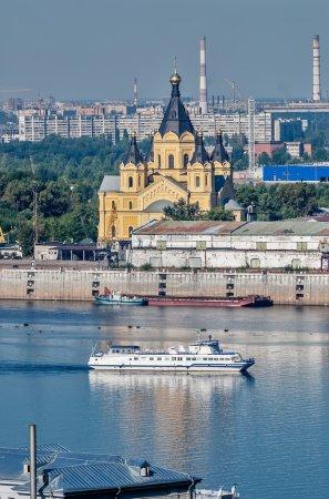 Photo pour Cathédrale pour l'amour du saint béni prince Alexandre Nevski. Nijni-novgorod. Russie - image libre de droit
