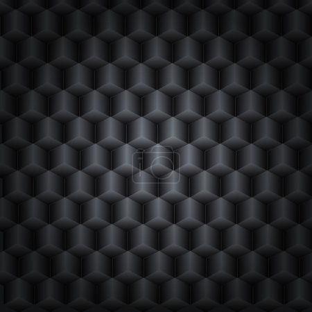 Black technology background with 3D effect for your desig