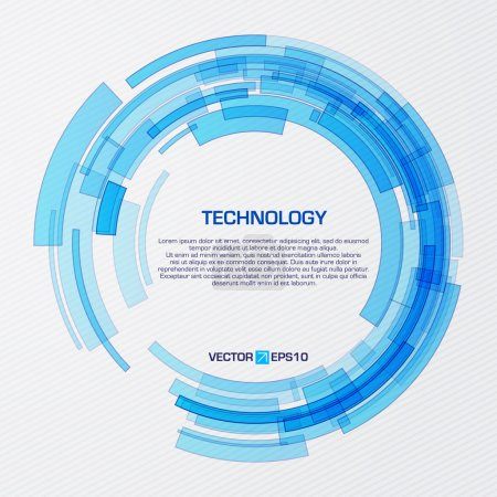 Photo pour Cercle technologique virtuel avec espace pour votre message d'affaires - image libre de droit