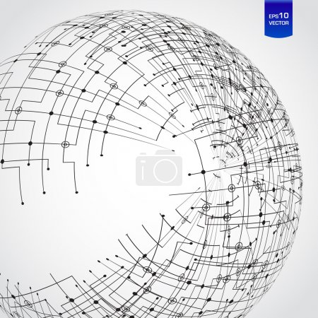 Illustration for Abstract technology globe - Royalty Free Image