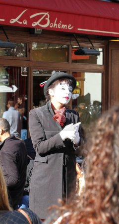 Photo for Pantomime on Montmartre, Paris - Royalty Free Image