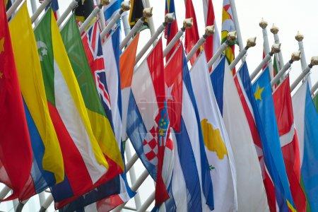 Photo pour Gamme de drapeaux nationaux - image libre de droit
