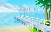 Tropical summer pier