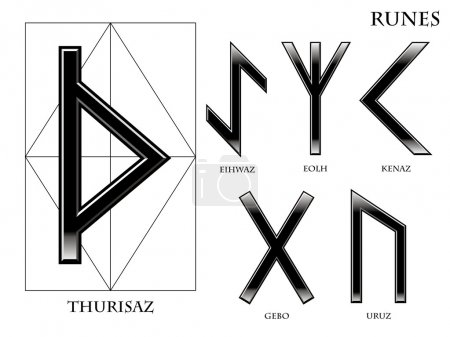 Runes on white background...