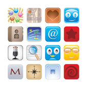 Social app set of icons