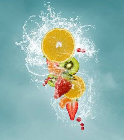 Fresh fruits splash