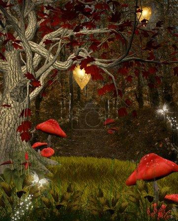 Photo pour Série de nature enchantée - la forêt rouge - image libre de droit