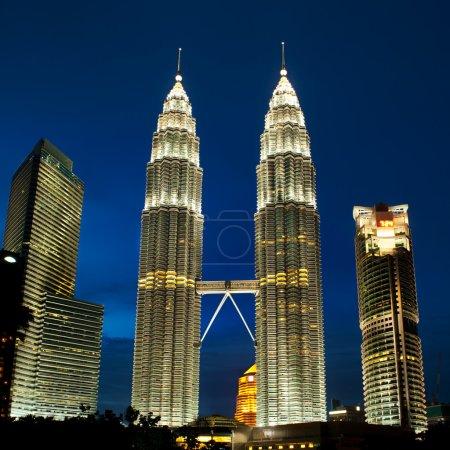 Cityscape of Kuala Lumpur, Malaysia with Petronas towers.