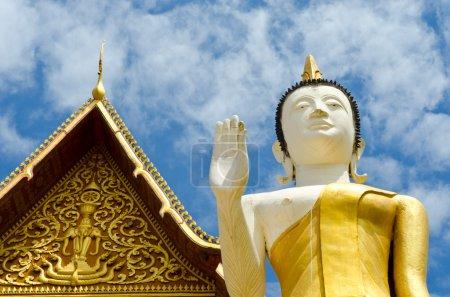Buddhist temple in Vientiane Laos