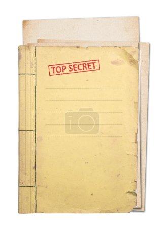 Photo pour Dossier secret supérieur isolé, un tracé de détourage. - image libre de droit