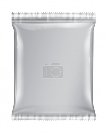 Photo for Sachet bag package white package isolated on white background white 3D - Royalty Free Image