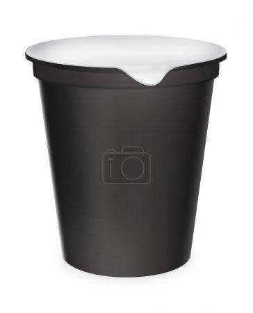 Black food plastic container