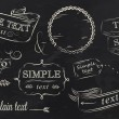 Chalk design elements of a stylized drawing with c...