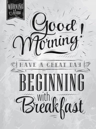 Poster lettering Good morning!