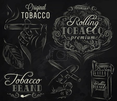 Collection on tobacco and smoking a pack of cigarettes