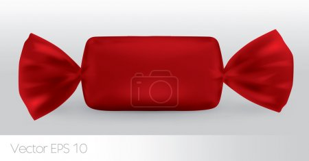 Red rectangular candy package for new design