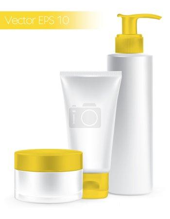 Illustration pour Produits de beauté. Set de conteneurs d'emballage . - image libre de droit