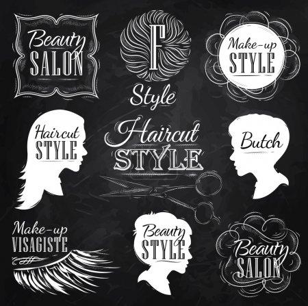 Haircut and make-up Style Set