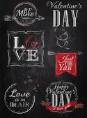 Valentine's Day lettering collection