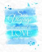 Sea watercolor poster