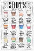 Shots menu vintage
