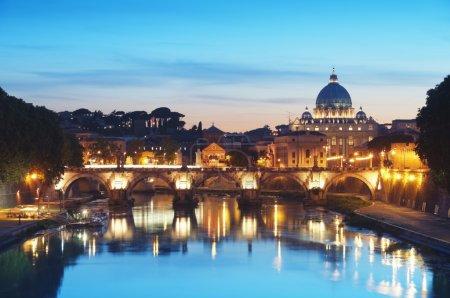 River Tiber in Rome - Italy.