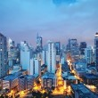 Eleveted, night view of Makati, the business distr...