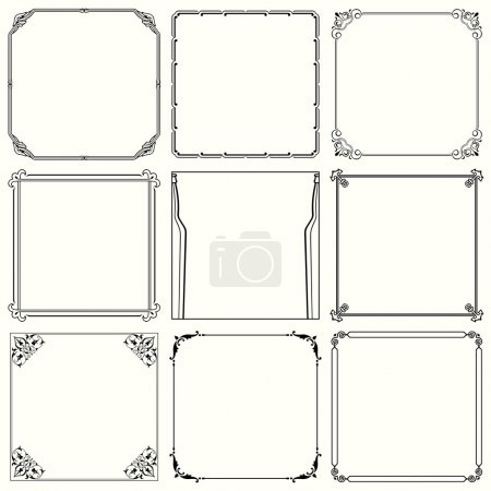 Illustration for Decorative frames (set 38) - Royalty Free Image