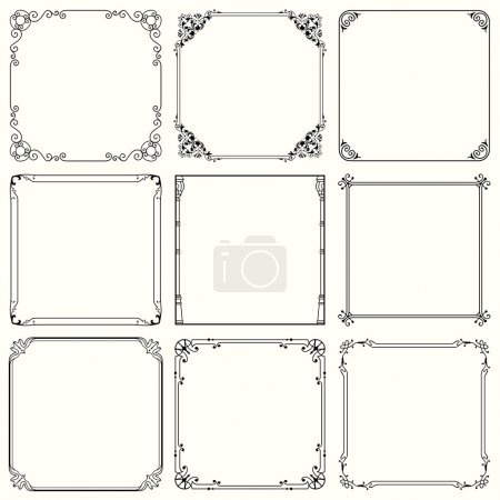 Illustration for Set of decorative frames (set 43) - Royalty Free Image