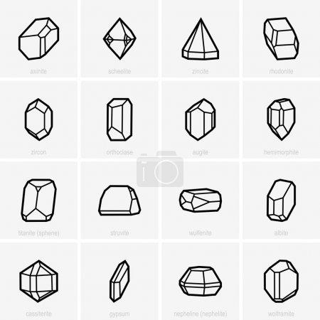 Set of crystals...