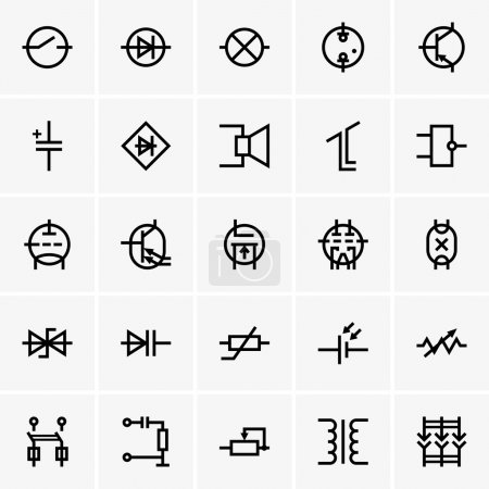Electronic component icons