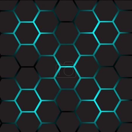 Illustration for Abstract vector background with cells. - Royalty Free Image