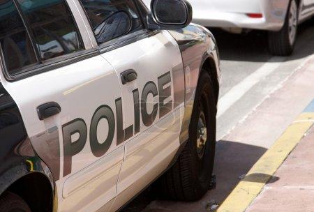 An American police car