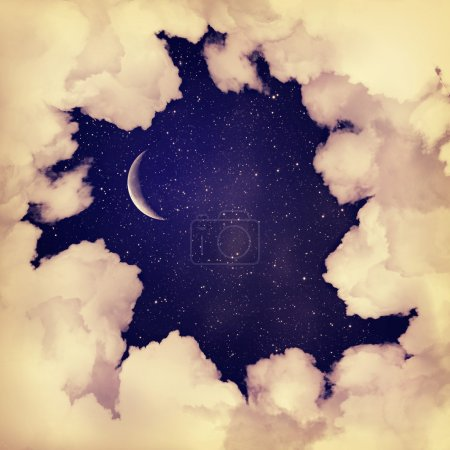 Photo for Vintage moon sky background - Royalty Free Image