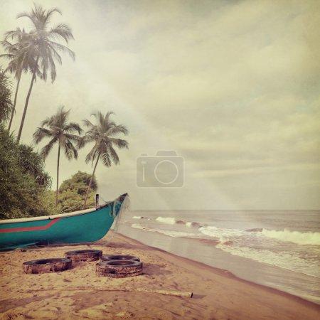 Foto de Fondo Playa Vintage - Imagen libre de derechos