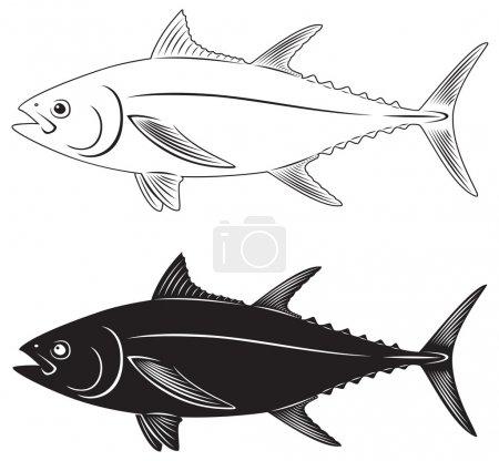 Illustration pour La figure montre un thon - image libre de droit