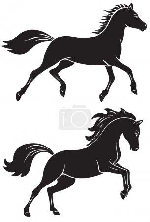 Illustration pour La figure montre un cheval - image libre de droit