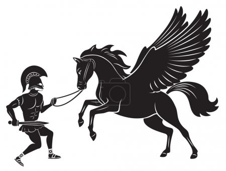 Figure depicts Hercules and Pegasus...