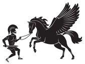 Figure depicts Hercules and Pegasus
