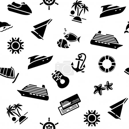 Illustration for Transport icons, wrapping paper - 10 eps - Royalty Free Image
