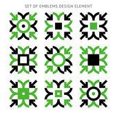 Set of emblems - vector design element