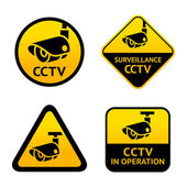 Video surveillance set signs Vector illustration