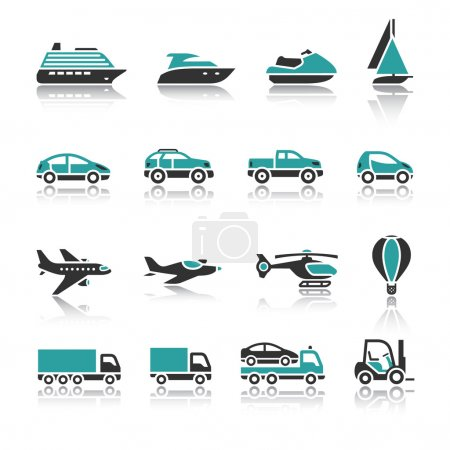 Photo for Set of transport icons - One - Royalty Free Image